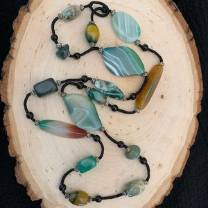 Jewelry - 30 inch Necklace Stones Natural Tones